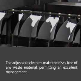 Optional Adjustable Disc Cleaners Available