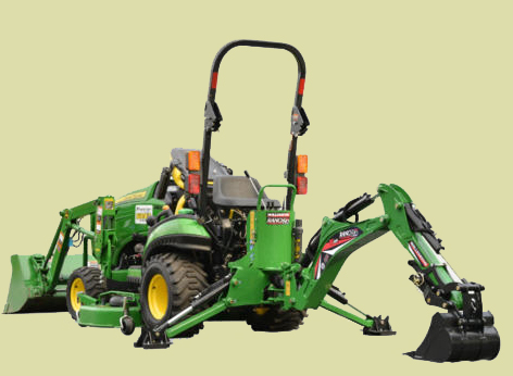 GE-605 Compact backhoe for tractors from 18 to 28 hp