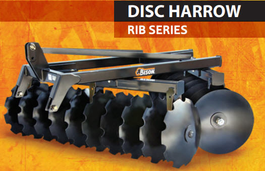 Offset Disc Harrows, Three Point Hitch Mount