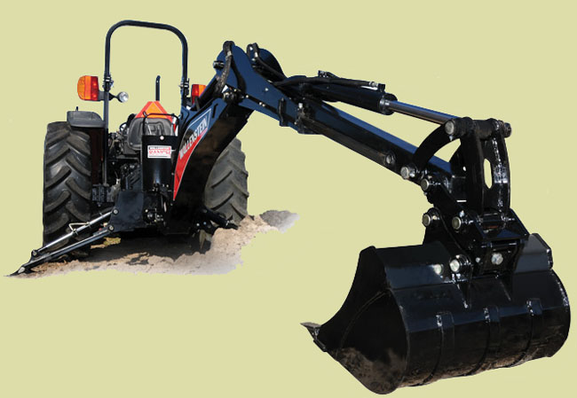 GX920XT Extended Reach Backhoe Model, 11 ft. 4 inches extended reach