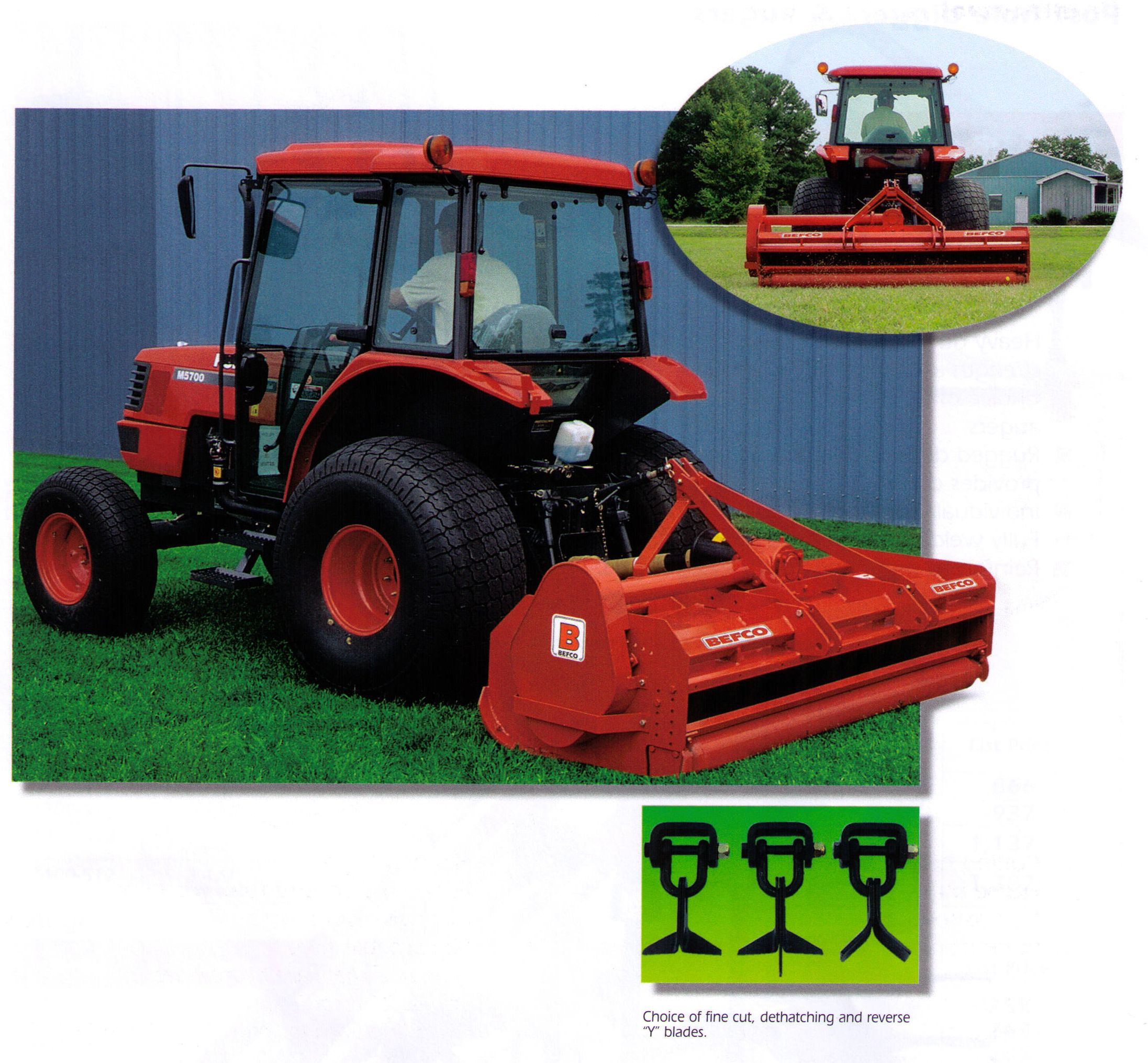 Befco H80 Series Tractor Mounted 540 RPM PTO Driven Flail Mowers