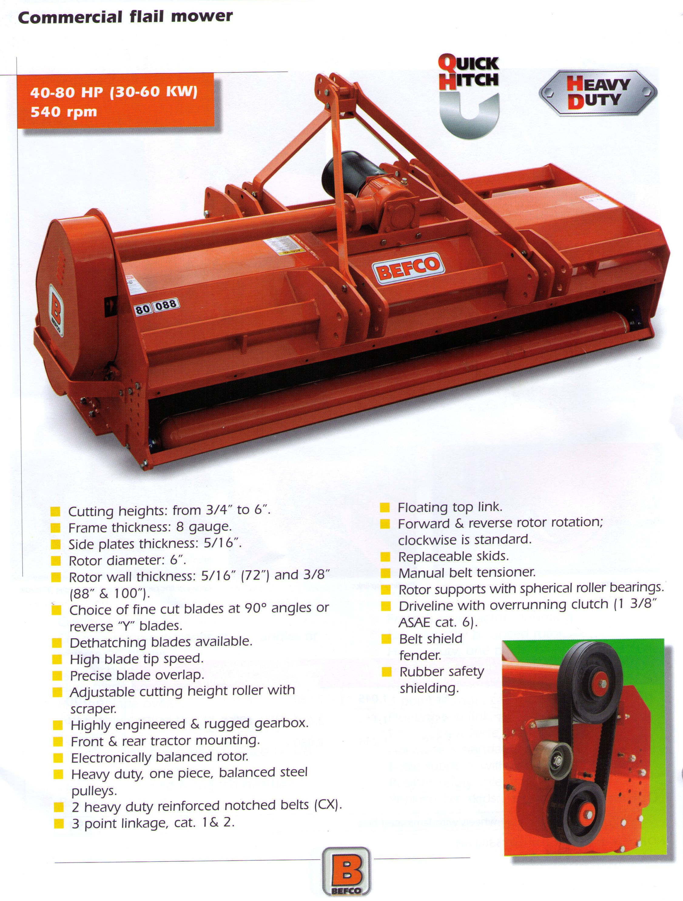Hurricane 80 Series Flail Mower