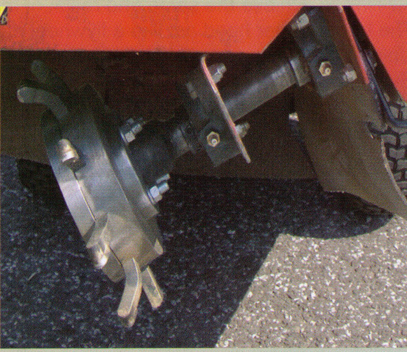 Closeup Of Stump Cutter Head
