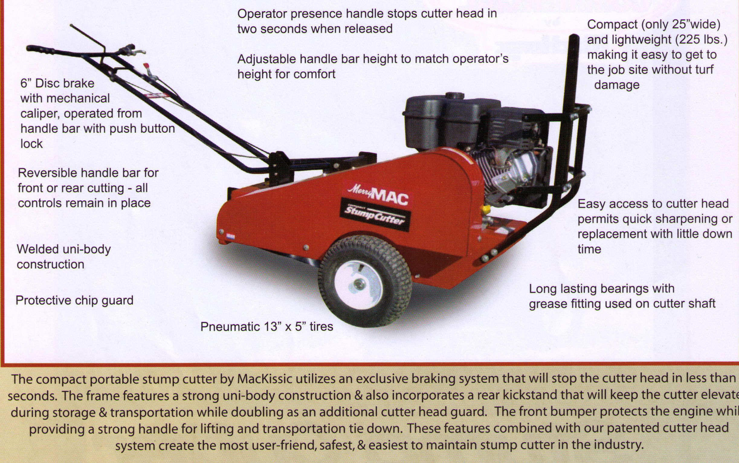 Features And Specifications CPSC Series Stump Grinder