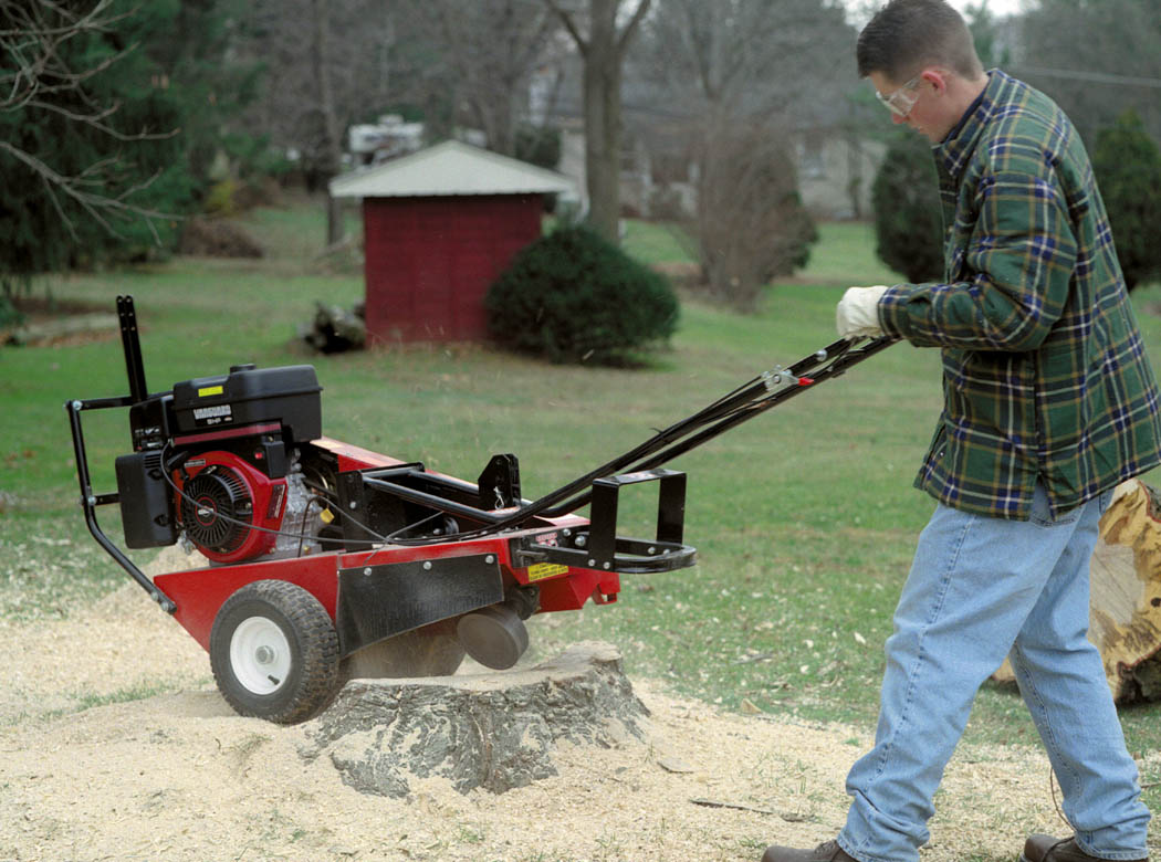 Walk Behind Stump Grinder Converts For Both Front Or Rear Cutting