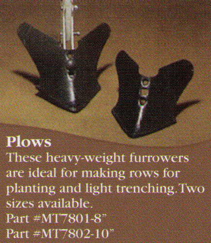 Plow Attachments For Making Rows For Planting And Light Trenching