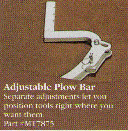 Adjustable Plow Bar Attachment To Allow You To Position Your Attachments Where You Want Them