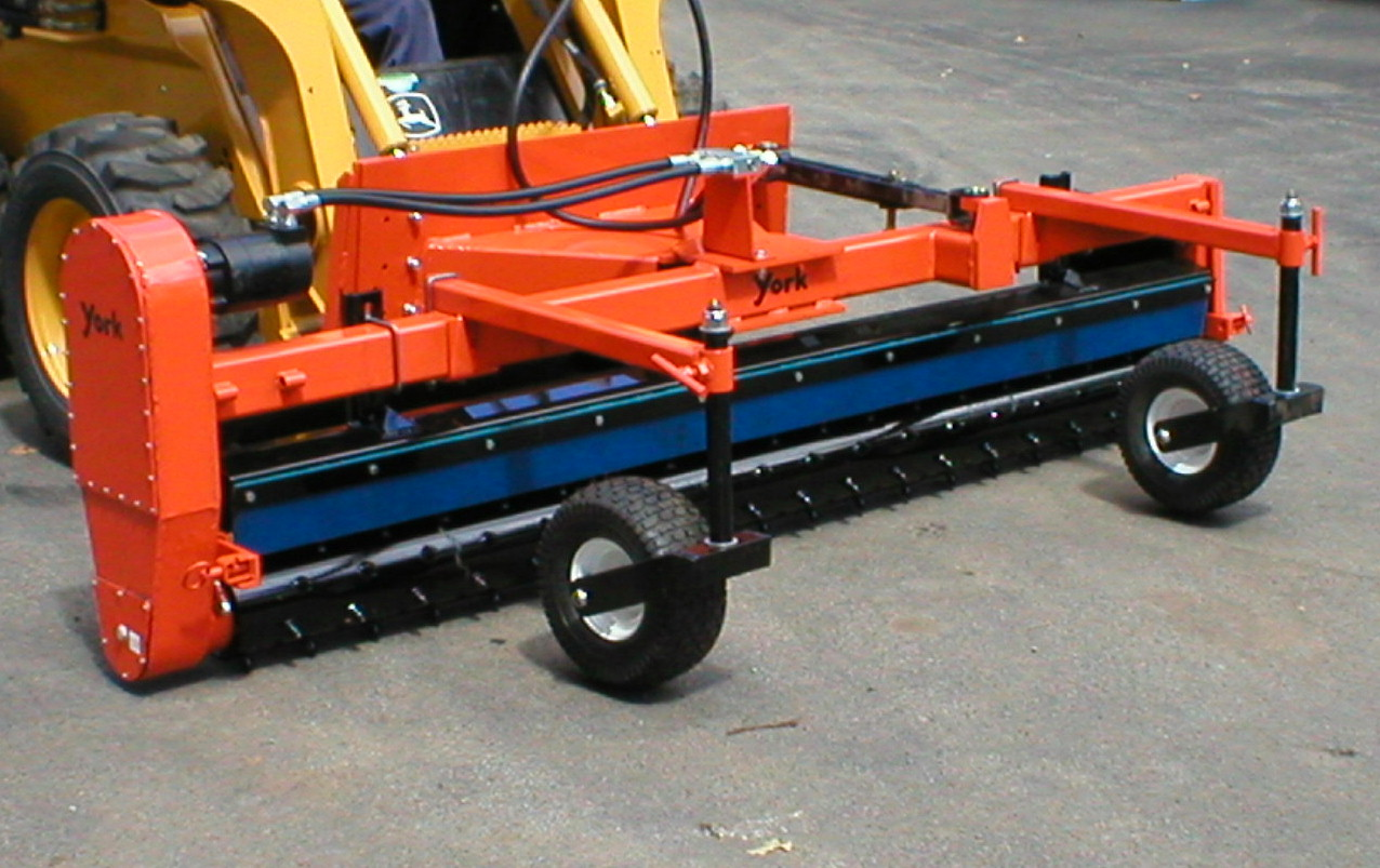 Hydraulic Powered Front Mount Skid Steer Loader Mounted Power Rake