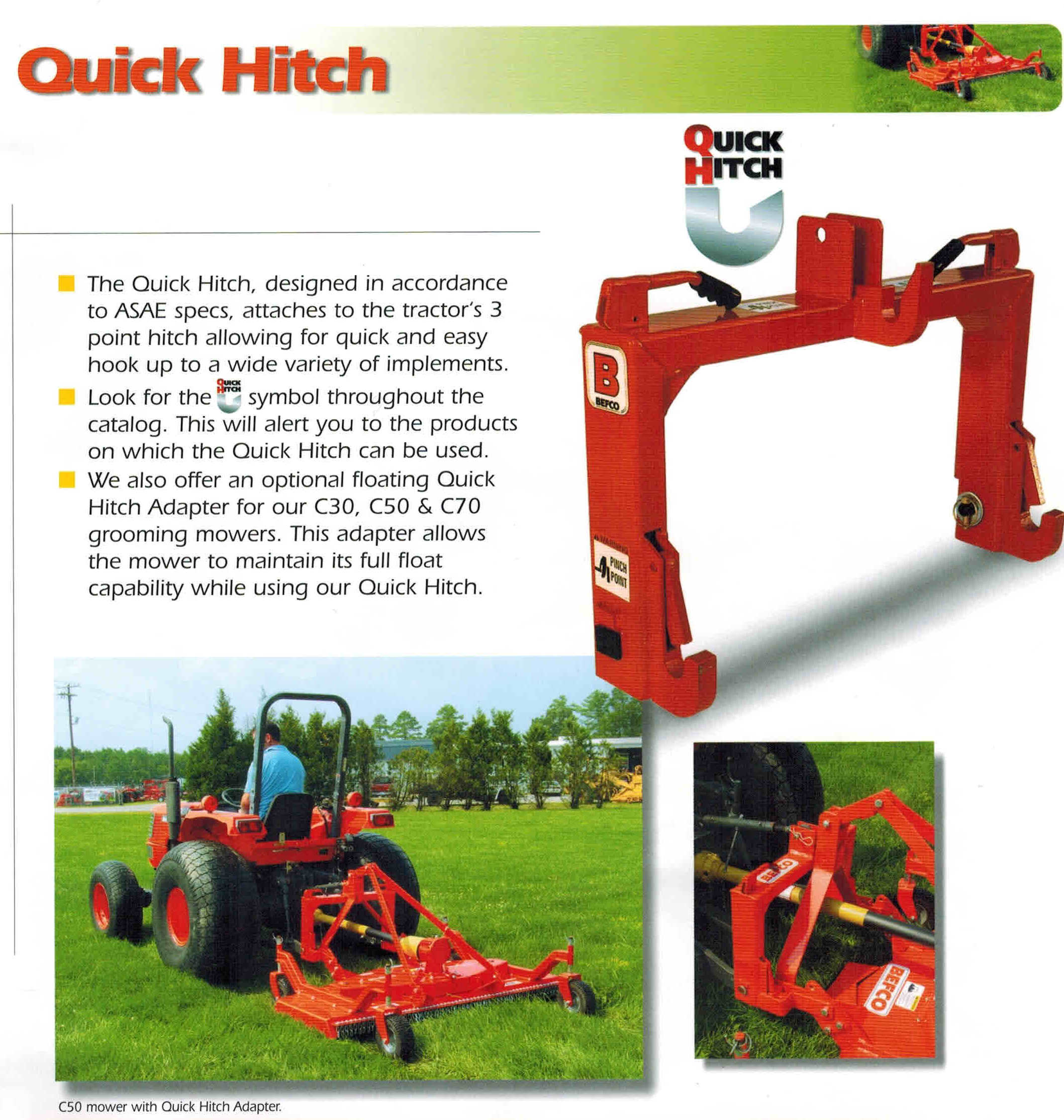 Features Befco Quick Hitches