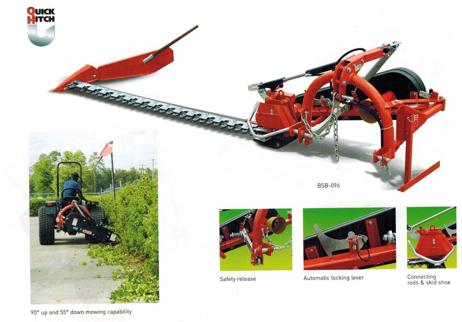 Befco BSB Series Sickle Bar Mowers With Hydraulic Lift On The Sickle Bar