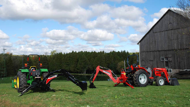 WLGX Series Curved Boom Tractor Mounted Backhoes