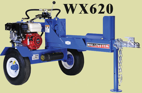 WX620 Horizontal Tow Behind Logsplitter For Off-Road Towing (See L Model Below For Unit With Light Kit)