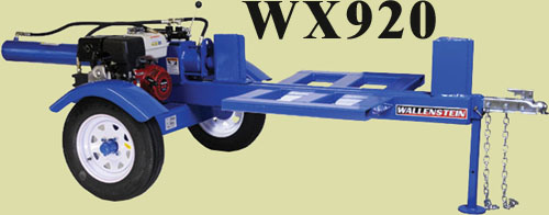 Trailer Type Horizontal Model With 4.5 Inch Cylinder And 36 Inch Long Log Capacity, 25 Ton Splitting Force Self-Contained Hydraulic System With 9 HP Honda Engine